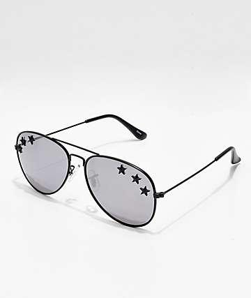 Icon Eyewear Triple Star gafas de sol estilo aviador espejado