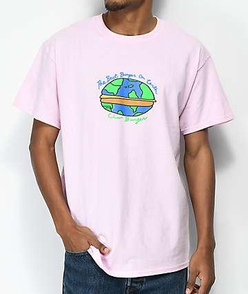 Illegal Civilization Best Burger Pink T-Shirt