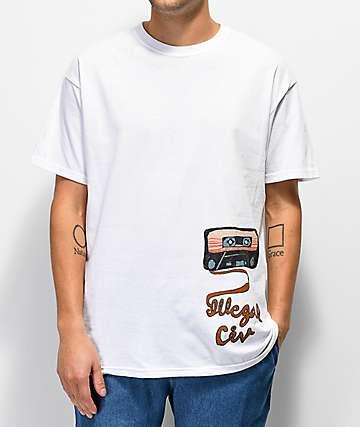 Illegal Civilization Cassette camiseta blanca
