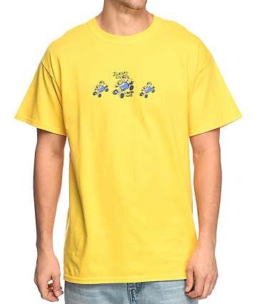 Illegal Civilization Cinema Club camiseta en color amarillo