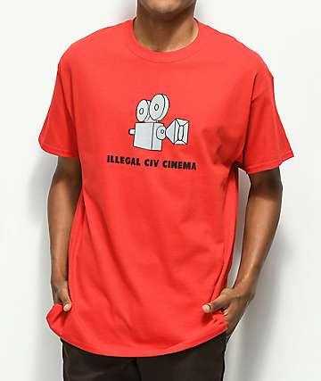 Illegal Civilization Cinema camiseta roja