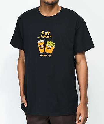 Illegal Civilization Civ Burger Black T-Shirt