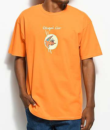 Illegal Civilization Classy Dino Orange T-Shirt