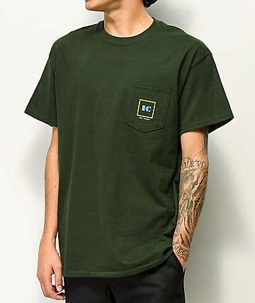 Illegal Civilization Corp camiseta verde con bolsillo