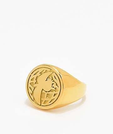Illegal Civilization Dino Gold Ring