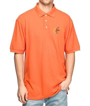 Illegal Civilization Dino Orange Polo Shirt