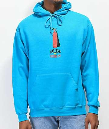 Illegal Civilization Extinguisher sudadera con capucha azul