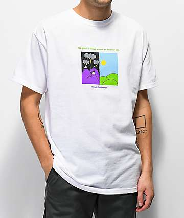 Illegal Civilization Grass Is Greener White T-Shirt