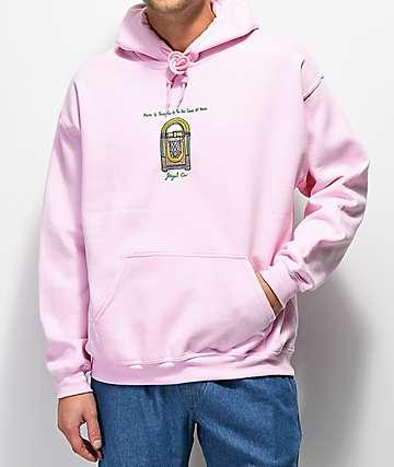 Illegal Civilization Jukebox sudadera con capucha rosa