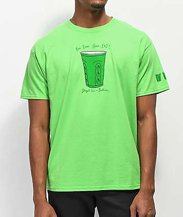 Illegal Civilization Solo Cup Green T-Shirt