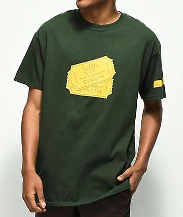 Illegal Civilization Tickets camiseta verde