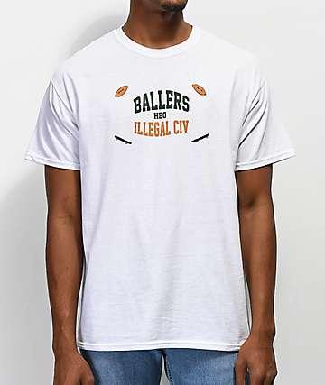 Illegal Civilization x Ballers camiseta blanca