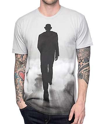 Imaginary Foundation Somewhere Monochrome Silver T-Shirt