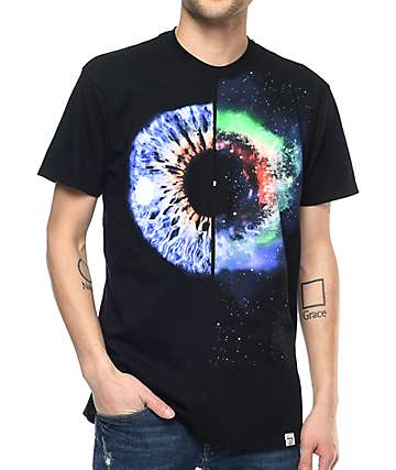 Imaginary Foundation Universe Within Black T-Shirt