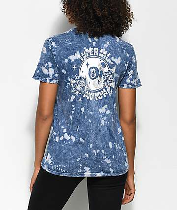 Imperial Motion 8 Ball Indigo Acid Wash T-Shirt