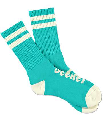 Imperial Motion Chill Seeker Type Mint & Cream Crew Socks