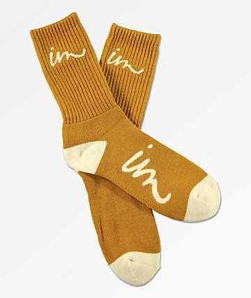 Imperial Motion Curser Mustard Yellow Crew Socks