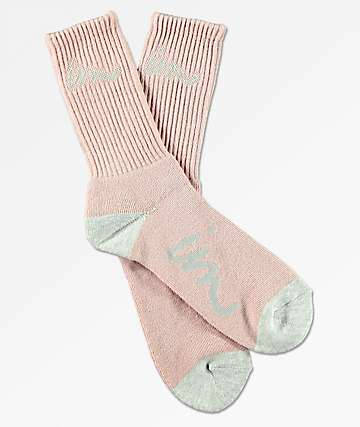 Imperial Motion Curser Pale Mauve & Grey Crew Socks