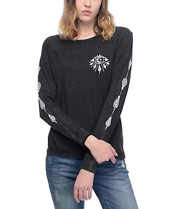 Imperial Motion Eye Moon Black Mineral Long Sleeve T-Shirt