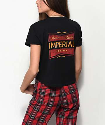 Imperial Motion Factory Black Cropped T-Shirt