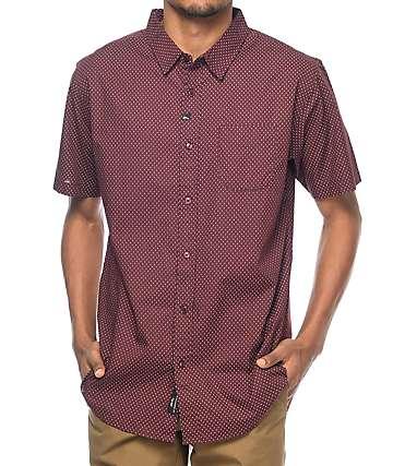 Imperial Motion Flake camisa en color vino