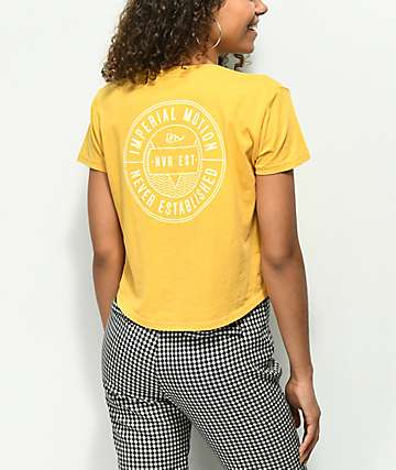 Imperial Motion Phaser Mustard Crop T-Shirt