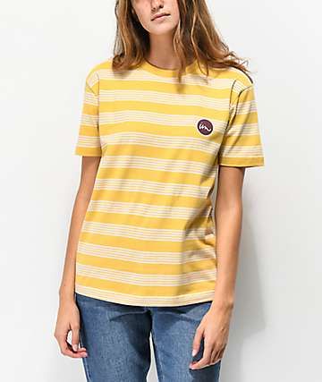 Imperial Motion Rounder Straw Yellow Striped T-Shirt