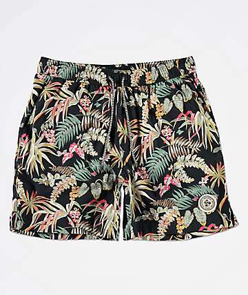 Imperial Motion Seeker Tub Volley Allover Print Navy Elastic Waist Shorts