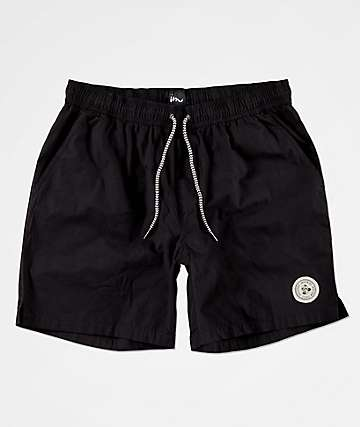 Imperial Motion Tub Seeker Volley Black Elastic Waist Shorts