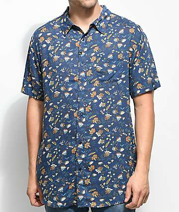 Imperial Motion Vacay Midnight Short Sleeve Button Up Shirt