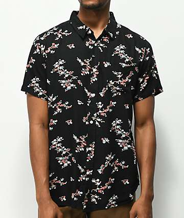 Imperial Motion Vacay camisa floral negra