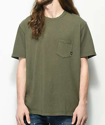 Imperial Motion Vintage Olive Pocket T-Shirt