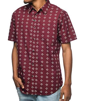 Imperial Motion Warner Cotton Short Sleeve Button Up Shirt