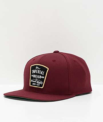 Imperial Motion Warrant Maroon Snapback Hat