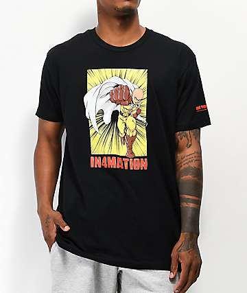 In4mation x One Punch Man Black T-Shirt