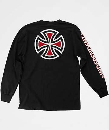 Independent Bar Cross Black Long Sleeve T-Shirt