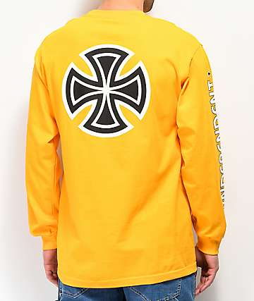 Independent Bar Cross Gold Long Sleeve T-Shirt