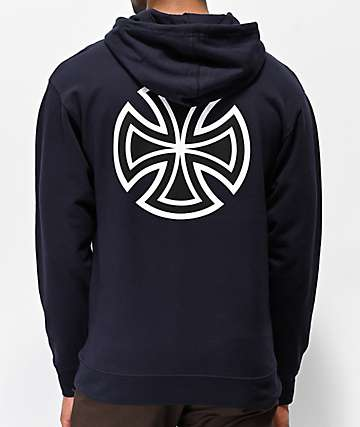Independent Bar Cross Navy Hoodie