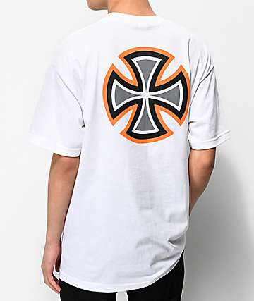Independent Bar Cross Primary White T-Shirt