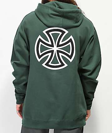 Independent Bar Cross sudadera con capucha verde