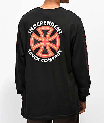 Independent Bauhaus Cross Black Long Sleeve T-Shirt