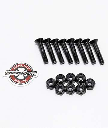 "Independent Black Crossbolts 1"" tornillos skate"