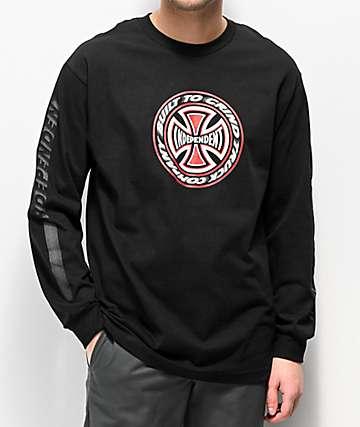 Independent Blaze Black Long Sleeve T-Shirt