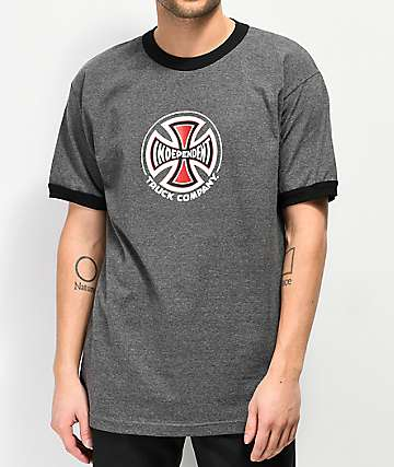 Independent Charcoal Ringer T-Shirt