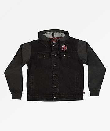 Independent Drifter Twofer Black Hooded Jacket