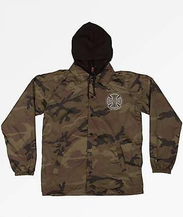 Independent Foil Truck Co. Camo Hooded Coaches Jacket