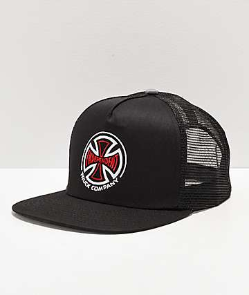 Independent Indy Black \u0026 Red Cross Trucker Hat Hats | Zumiez