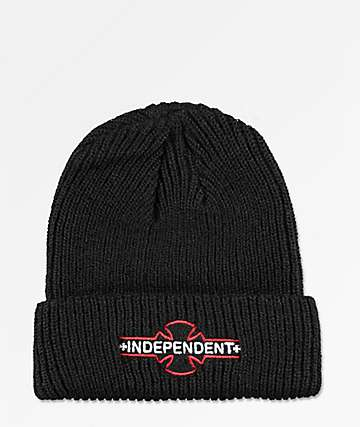 Independent Logo Black & Red Beanie