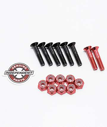 "Independent Red Crossbolts 1"" tornillos skate"