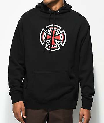 Independent Ringed Cross Black Hoodie
